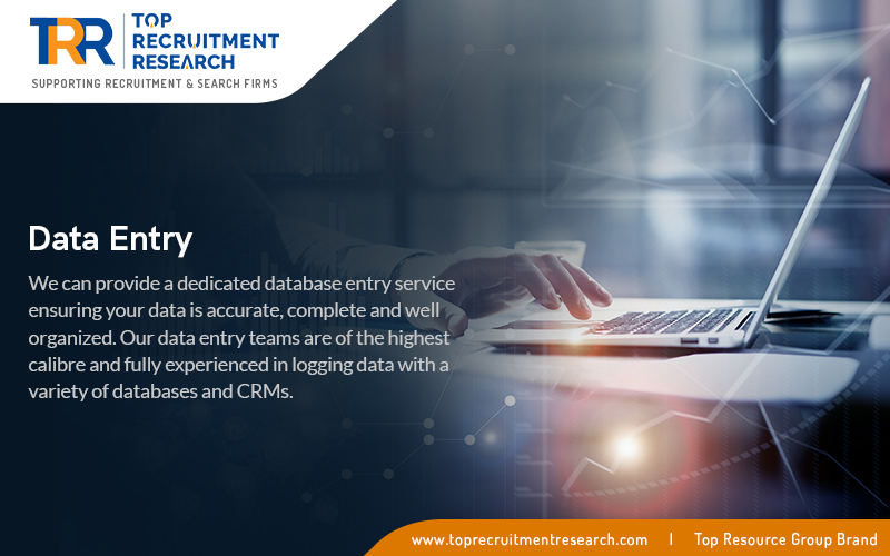We can provide a dedicated database entry service ensuring your data is accurate, complete and well organized.