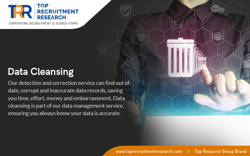Data cleansing is part of our data management service, ensuring you always know your data is accurate